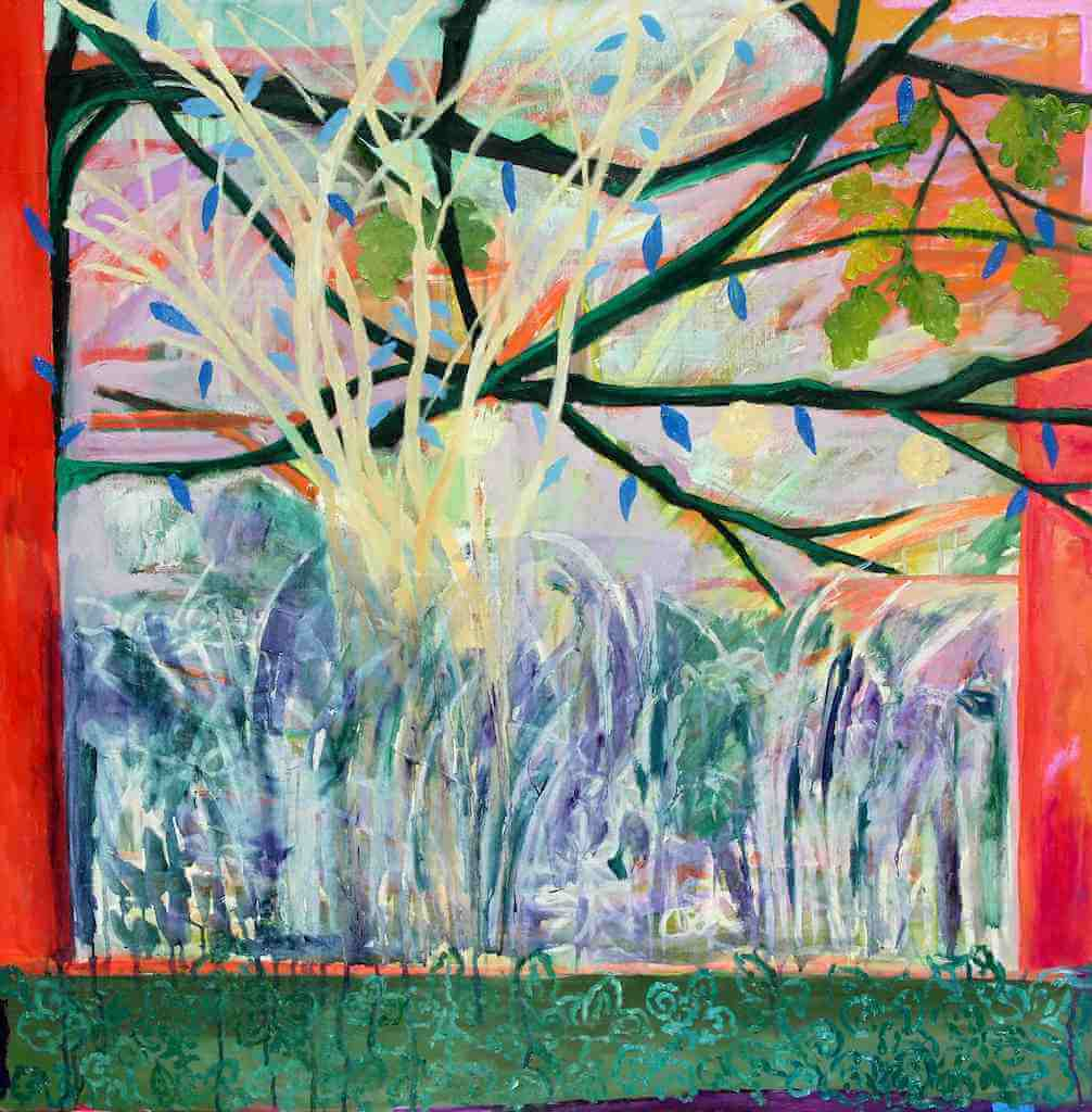 Oak Tree Tapestry painting