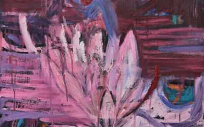 PROTEA MELTED IN PAINT