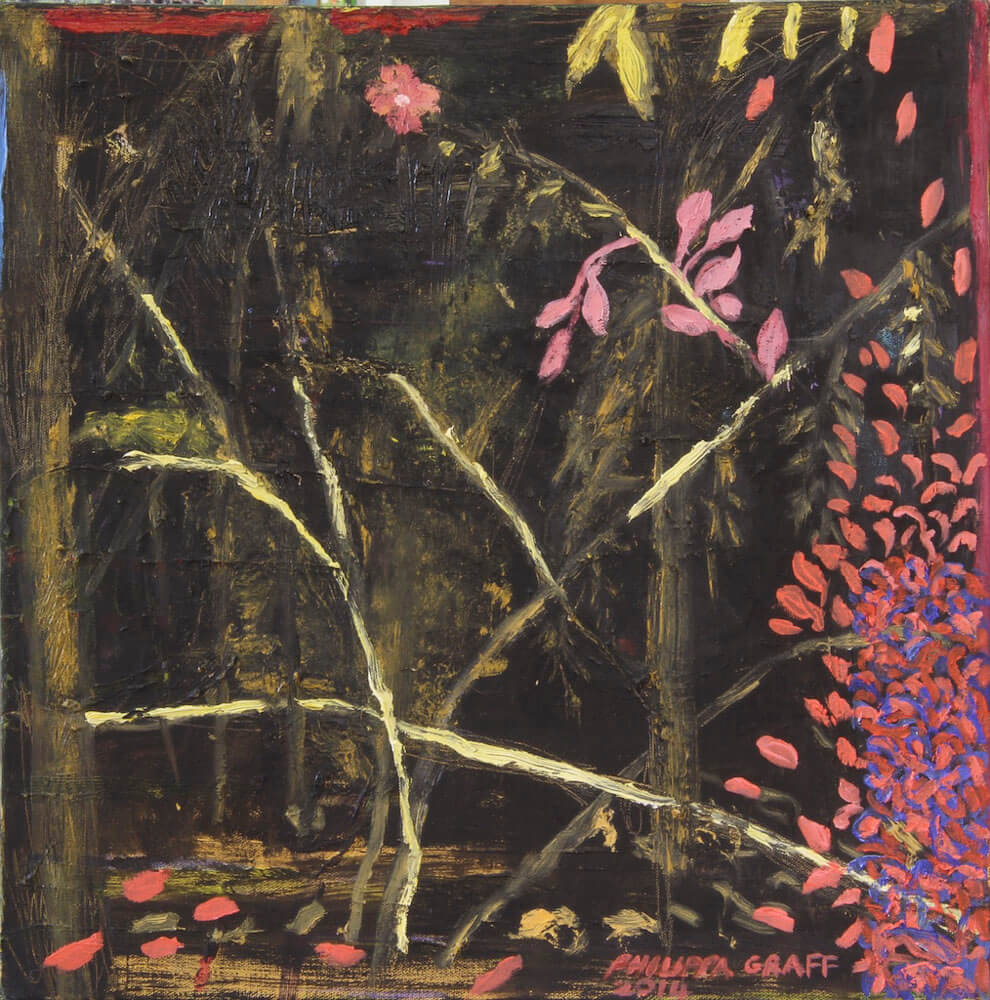 Etched in Yellow with Blossoms painting