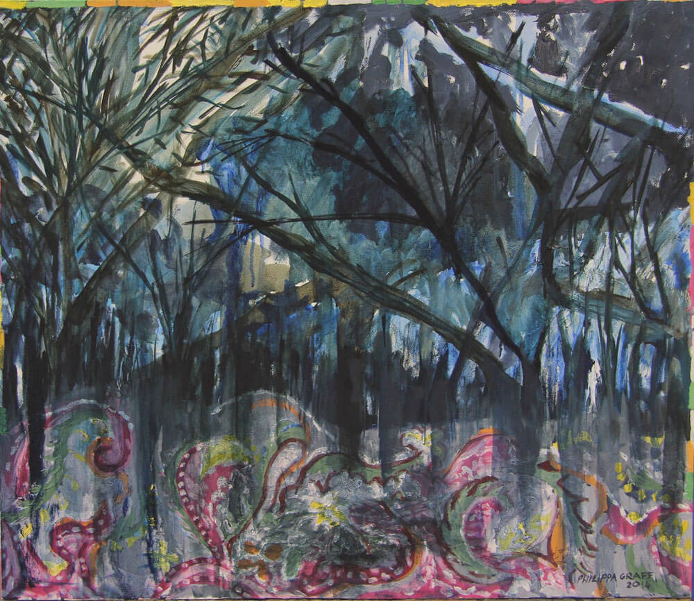 Forest Storm Rooted in Paisley painting