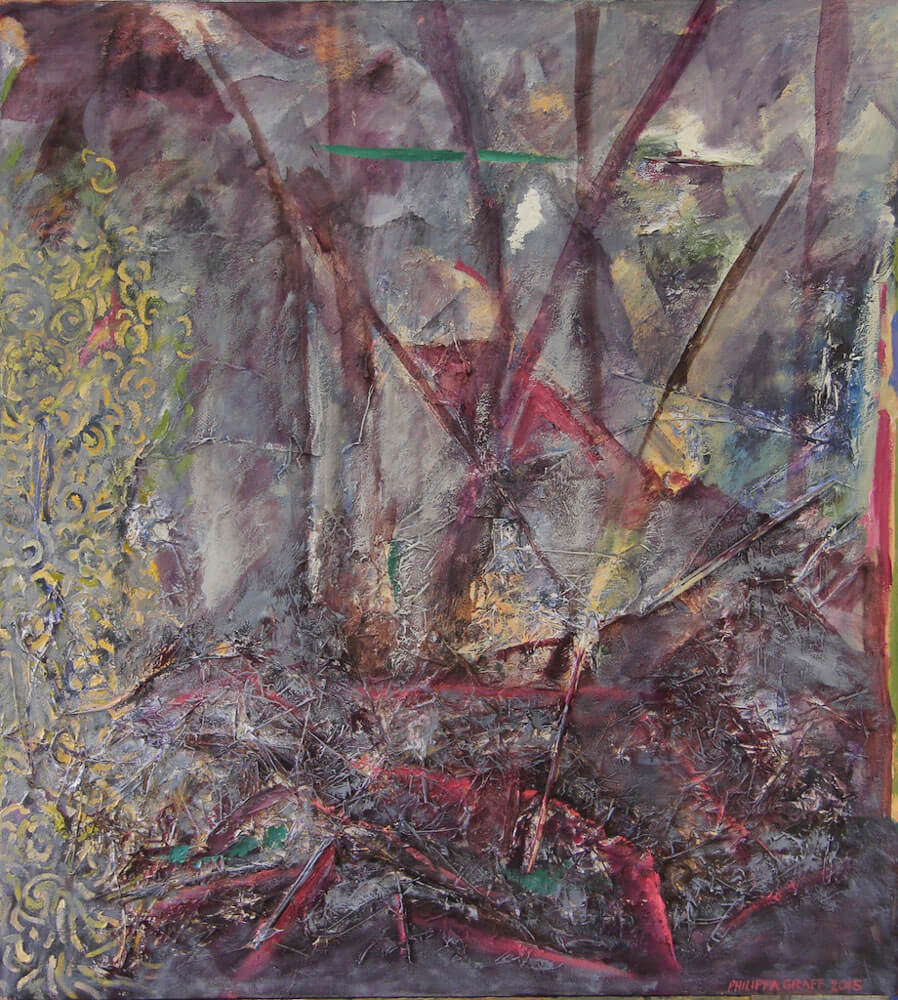 Prisms and Possibilities in the Forest painting