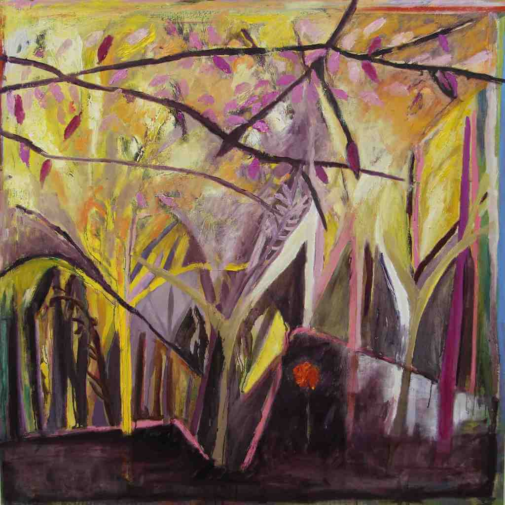 Yellow Tree Forest painting